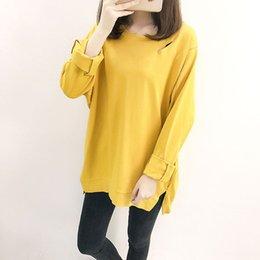 042a8e7c8ad Oversized hole sweatshirt autumn winter long sleeve long tops for women  girl solid color hoodie casual loose plus size pullover
