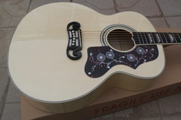 chitarra jumbo palissandro Sconti Chinese Custom Shop Nature Legno massello di abete rosso Top Schienale in palissandro 6 corde Chitarra acustica elettrica