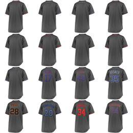 Wholesale 4xl tall - 2018 Custom New York Eric Hosmer Buster Posey 34 Harper 20 Donaldson 17 Bryant Jacob deGrom Charcoal Fashion Big & Tall Team &Player Jersey