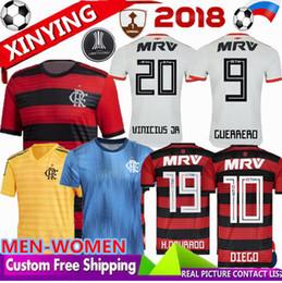 MWN WOMEN 18 19 CR Flamengo soccer jerseys Home Away goalkeeper 2018 2019  E. Ribeiro GUERRERO DIEGO ZICO VINICIUS JR football shirt BRAZIL 60f6c62a6