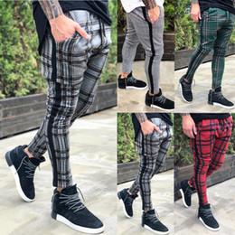 Pantalones de carga urbana online-Thefound 2019 Pantalones de pierna recta urbana ajustados de los nuevos hombres Lápiz ocasional Pantalones cargo