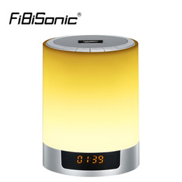 Wholesale Touch Sensor Led Lamp Speaker - Night Lights Wireless Bluetooth Speaker Touch Sensor LED Bedside Lamp Dimmable Warm Light&Color Changing with Alarm Clock