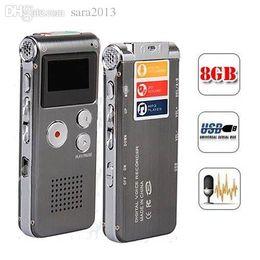 Wholesale Vor Recording - Wholesale-Steel 8GB Digital Voice Recorder 650Hr Dictaphone MP3 Player VOR Rechargeable Telephone Recording