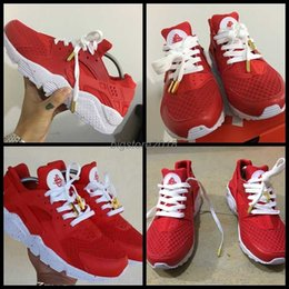 red printers Coupons - 2017 Huarache Breathe Running Shoes For Men Women,Woman Mens Red White printer Air Huaraches Multicolor Sneakers Athletic Trainers 36-46