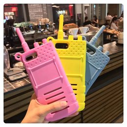 Wholesale sexy cartoon 3d - Fashion Cartoon Sexy Girl 3D Simulation Walkie Talkie Interphone Telephone Silicone Phone Case For Iphone X 6 6S 7 8 PLUS