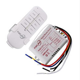 Wholesale Wireless Lamp Way - SOVO Hot 1 2 3 Way 220V Wireless Remote Control Switch 190V240V ON OFF Switches Transmitter Receiver Module Relay for Lamp Light