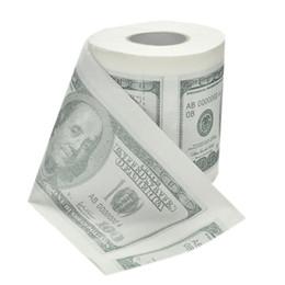 Dólares de papel on-line-Nota de 1 Dólar Dólar Impresso Papel Higiênico América EUA Dólares Tecido Novidade Engraçado $ 100 TP 10 pçs / lote