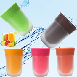 Wholesale Green Briefs - 2017 NEW Creative The Right Cup Fruit Flavored Cup Drink Water The Overall Flavor Experience Magic Cup Ointment Juice Bottle