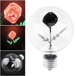 taches blanches en plastique Promotion Bulle de flamme de couleur de Dazzle G80 2W E27 220V - Rose a mené la décoration de l'ampoule 3D avec l'angle de 360 degrés de luminescence LEG_412