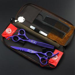 Violet dragon rouge / violet / blanc / noir laque 5.5 pouces / 6.0 pouces cheveux coupe / amincissement ciseaux ensemble, 6CR ciseaux livraison gratuite ? partir de fabricateur