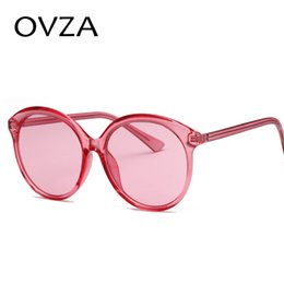 14c39439b88 OVZA 2018 Newest Fashion Oversized Sunglasses Women Mens Translucent  Candy-colored Sunglasses Pink Oval Style S5049