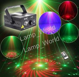 2018 contexto de rideau vidéo Suny RG 3 Lens 40 Modèles Mini Laser Projecteur Stage Bleu Clair LED Stage Éclairage Avec Télécommande Show Disco DJ Éclairage De Fête