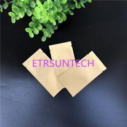 2019 пробоотборные мешки 5 мл белый коричневый крафт-бумага пластиковая упаковка мешок составляют косметический крем образец открытой верхней мешок QW8067 скидка пробоотборные мешки