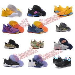 Wholesale Plus Size Rubber - New plus size Arrival Paul George Running Shoe PG1 Ferocity Glacier Black Shining Men Basketball Shoe high quality Sports Walking Shoes