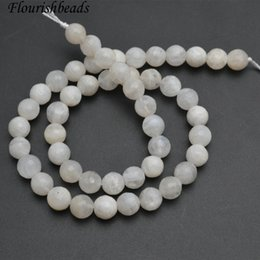 Wholesale loose faceted gemstones - Faceted Natural White Moonstone Gemstone Round Loose Beads DIY Jewelry Making Supplies