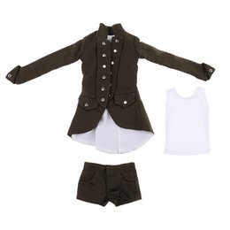 gothic toys Coupons - MagiDeal 1 6 Scale Gothic Clothes Coat Shorts Vest Set for 12 Inch Woman Action Figures Body Student Acce