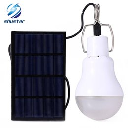 Wholesale Led Bulbs For Street Lights - LED Solar lamp 15w 130lm No flicker Solar Energy saving bulb lamp for Camping Tent Fishing Courtyard Emergency lighting