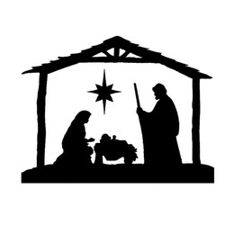 Wholesale Scene Wall - 15*10cm christmas holy scene pattern decal wall decal CA-142