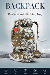 Wholesale 75l Outdoor Bag - Mountaineering bag 70L large capacity outdoor sports camouflage double shoulder backpack military training camp baggage backpack.