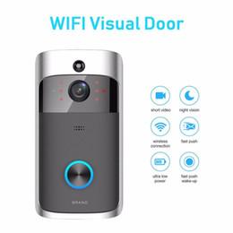 Timbre de la puerta de intercomunicación visual online-WiFi Anillo de timbre visual Smart Home Inalámbrico Cámara de Bell Video Teléfono Intercom Módulos de automatización de seguridad para el hogar
