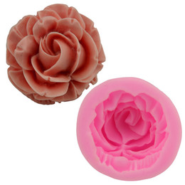 Wholesale silicone rose cake mold - 3D Rose Flower Silicone Mold Handmade Soap Silica Gel Mould Resuable Cake Moulds Baking Tools ZA6680