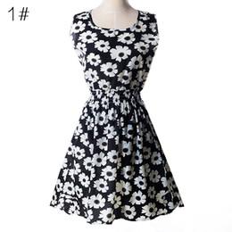 Wholesale cheap clothes women free shipping - Newest fashion Women Casual Sleeveless Dress Plus Size Cheap China Dress Women Clothing Fashion Summer Dress Free Shipping