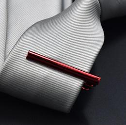 Wholesale Copper Tie - 1 PCS classic metal tie clips gentleman tie clasp high quality exquisitetie bar business necktie clip 8 color free ship