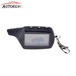 Canada 2-way A61 LCD Télécommande Porte-clés Pour StarLine A61 Système D'Alarme De Voiture bi-directionnelle Alarme Russe Auto-start cheap auto start car alarms Offre