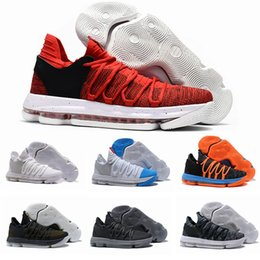 Wholesale Mens Basketball Shoes Mvp - 2017 Mens KD 10 Basketball Shoes Oreo Finals PE Still KD MVP Anniversary Sport Sneakers US 7-12
