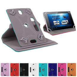 """Wholesale Tablet Pc Bundles - New Tablet Case 360 Rotate Leather Protective Stand Case Cover For Universal Tablet PC Case 7"""" 8"""" 9"""" 10"""""""