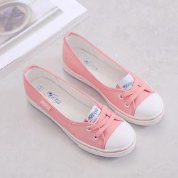 dfe907ff7e355 2018 Sping senhoras sapatos mulheres sapatos de lona slip-on meninas plana  casual sneaker zapatos mujer