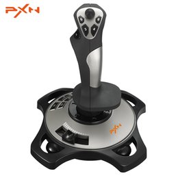 microsoft pc juego controlador Rebajas PXN PRO 2113 Wired 4 Axles Flying Game Joystick Simulator Controller Juego Joystick para Microsoft Xbox 360 PC