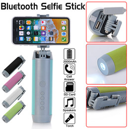 5 en 1 boîte de lampe de poche stéréo extérieur portable multi-fonctionnel Mini Selfie Stick Bluetooth haut-parleurs sans fil pour le camping à vélo ? partir de fabricateur