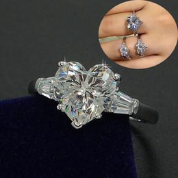 2019 обручальные кольца с бриллиантами Choucong роскошные ювелирные изделия женщины обручальное кольцо сердце вырезать 3 карат алмазов стерлингового серебра 925 обручальное кольцо для женщин дешево обручальные кольца с бриллиантами