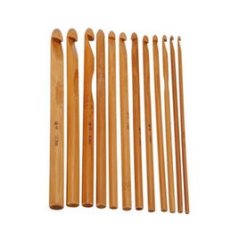 Wholesale Needle Crafts - Wooden Round Knitting Needles Carbonized Bamboo Crochet Crafts Sewing Tools Accessory High Quality New 5pd C R