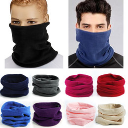 Wholesale Neck Scarves For Women - Neck Ring Scarf cold wind Neck face protection Unisex Men Women Thermal Warm Fleece Snood Neck Scarf for winter outdoor sports