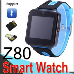 hd wrist watch Promo Codes - Z80 New Smart Watch Cell Phone Bluetooth 3.0 IPS HD Full Circle Display MTK6261D Smartwatch 4 Colors Factory Outlet XCTZ80