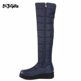 Großhandel MeiLiKeLin Frauen Daunen Schnee Stiefel Top Plattform Wasserdichte Rutschfeste Stiefel Damen Warme Pelz Plüsch 2019 Winter Mitte Waden