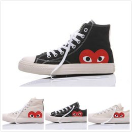 Converse All Stars Chaussures CDG COMME DES GARCONS PLAY Big Eyes Heart Casual Running Skate Sneakers 35-44 desde fabricantes