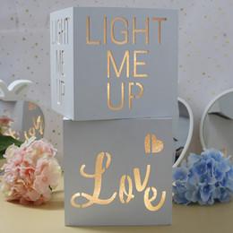 Casamento led luz decoração on-line-Light me up Caixa De Luz De Madeira Llluminated Led Carta Modelagem Lâmpada Amor Casamento Luz Noturna Ins Decoração de casamento Acessórios