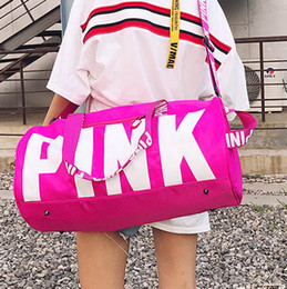 Wholesale Fashion Golf Bags - Fashion vs love pink girl bag travel duffel bag women Travel Business Handbags VS beach shoulder bag large secret capacity bags