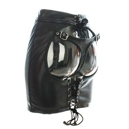 Sexy Womens Faux Leather Tanga Back Backless Mini Skirt Stretch para ajustarse Soft Open Butt con bragas fetiche Cosplay Disfraz desde fabricantes