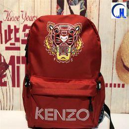 Wholesale tiger print bags - 2018 new Kenz Tiger Head printing school fashion waterproof duffle bags men women Multi-function sport backpacks travel outdoor bags