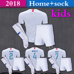 Wholesale Usa Suits - 2018 19 USA Soccer kid kit American National Team Gold Cup 2018 United States DEMPSEY DONOVAN BRADLEY PULISIC Football suit+sock