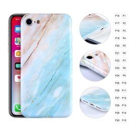Wholesale Orange Texture - 2018 Hot Sale For iPhone X Case Marble Texture Series TPU Protective Cases 30 Colors DHL Free Ship