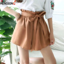 a6bbc4b6975 Discount loose leg shorts - Women High Waist Shorts female Sexy Smocked  Belted Beach Summer Shorts