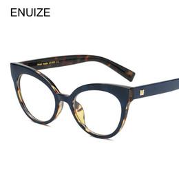54c8830bd9e lunettes de soleil de chat ordinaires Promotion Vintage Myopie Lunettes  Femmes Rétro Oeil De Chat Plaine