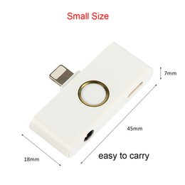 Wholesale Mini I Phones - For i phone x home button Audio Adapter iphone home key 3.5mm earphone Jack for lightning charger AUX jack Audio Converter