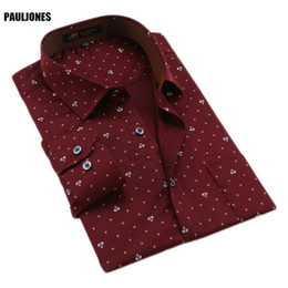 Wholesale Import Shirt - PaulJones 118x Spring Luxury Cotton Mens High Quality Long Sleeve Printed Floral Business Shirts China Importing Men Clothing