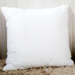 Poltronas de poliéster on-line-Transferência térmica Térmica Sublimação fronha Em Branco branco Lance Fronha 40 * 40 cm poliéster travesseiro capa de almofada quadrado forma do coração